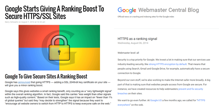 Google מקדמת אתרים בעלי תעודת SSL