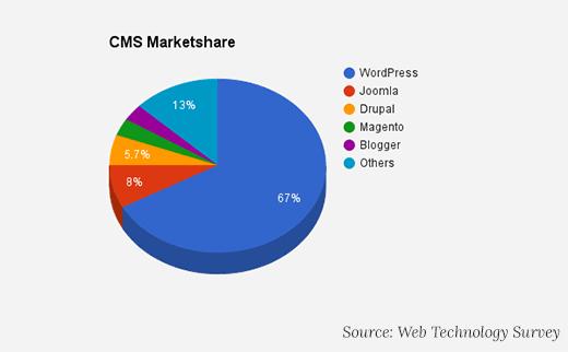 שוק מערכות ניהול תוכן